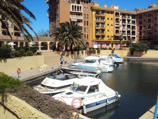 boats in a spanish marina