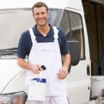 a painter and decorator with van