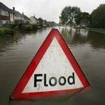 flooded road UK