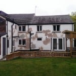 A home in Cheshire with cracked walls