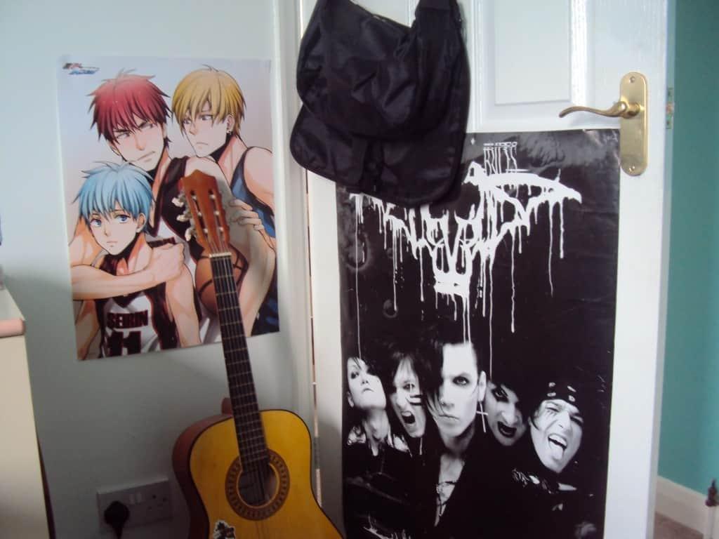 posters in teens room