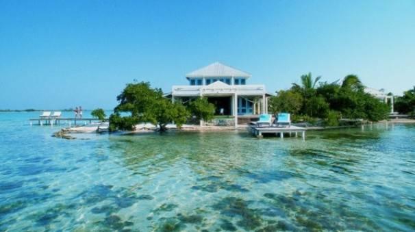 belize bungalow Cayo Espanto, Belize