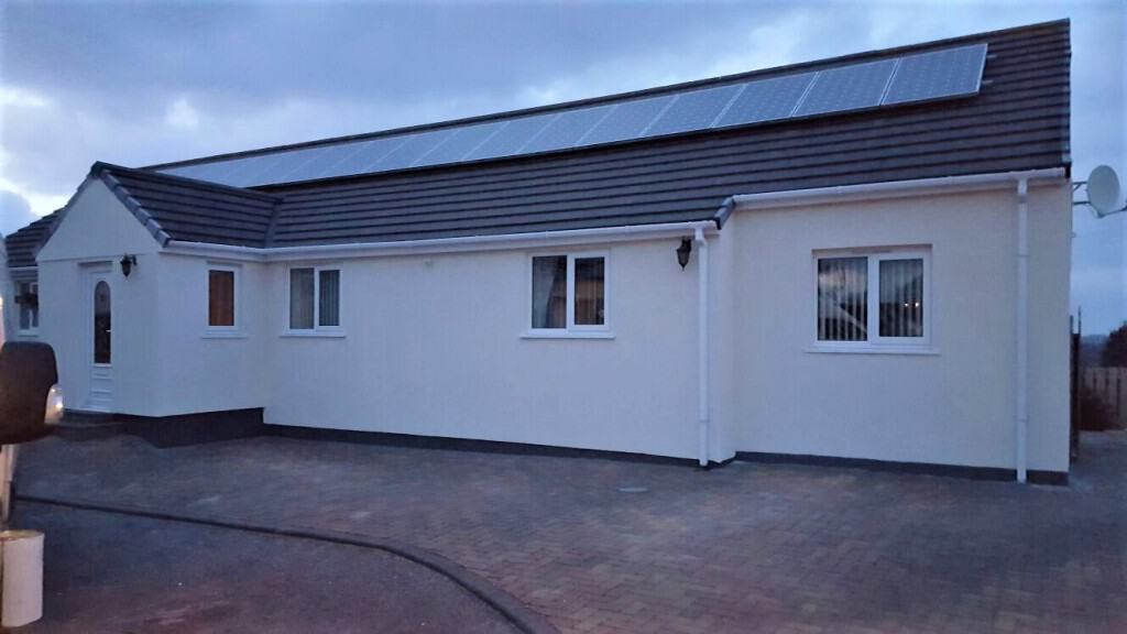 A house in Redruth Cornwall with our wall coating system