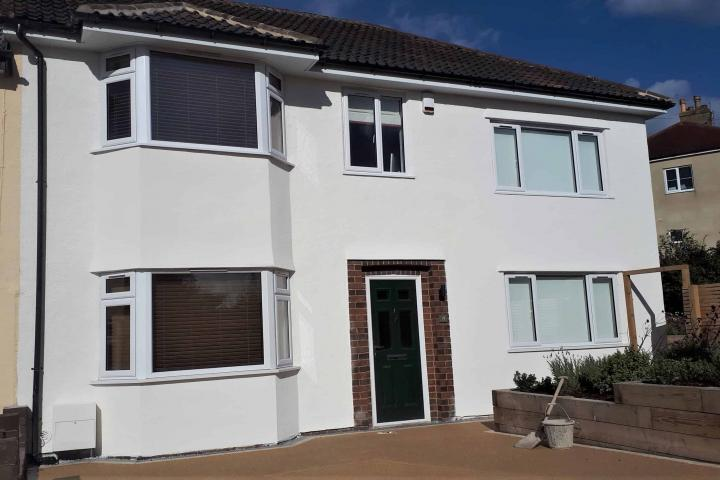A new house but at the same address with wethertex wall coatings