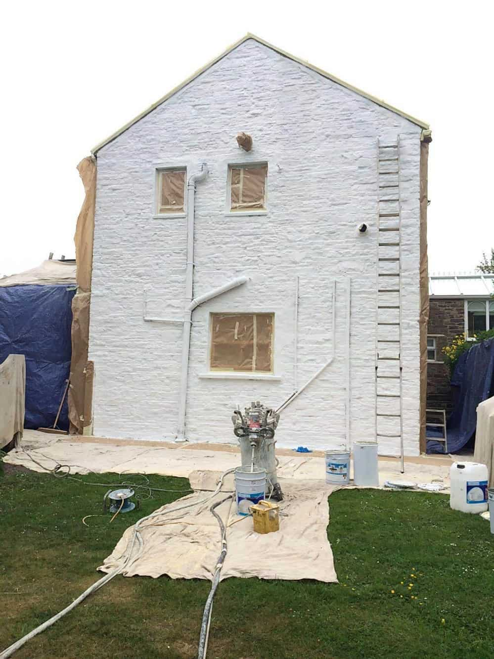 Bishop Auckland house with primer coating on wall
