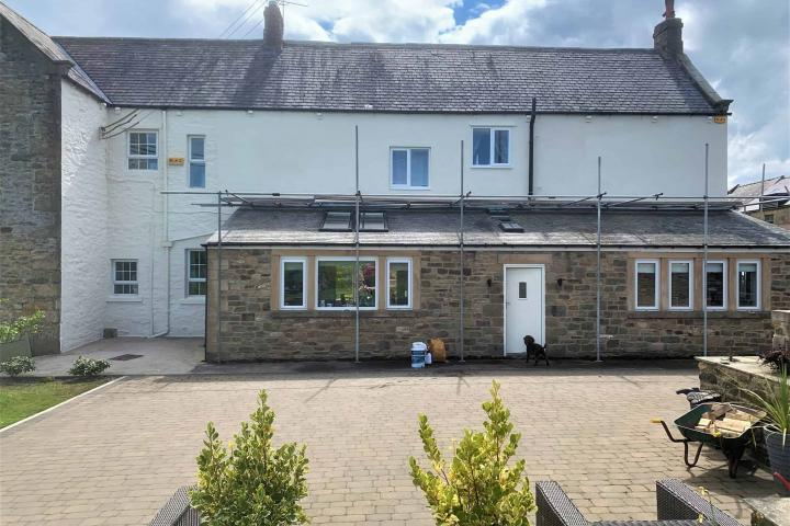 County Durham home with brand new rendering and a wethertex exterior wall coating