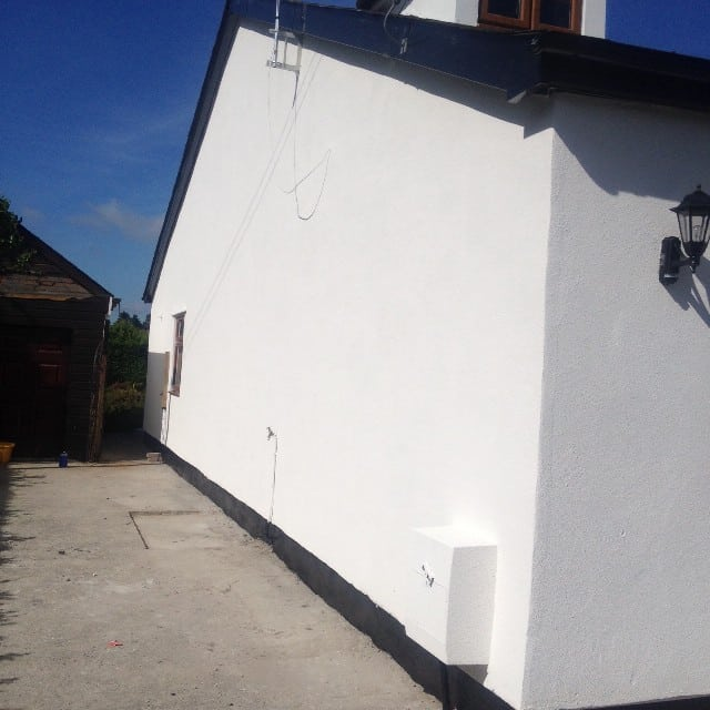 External wall covering on home in wales