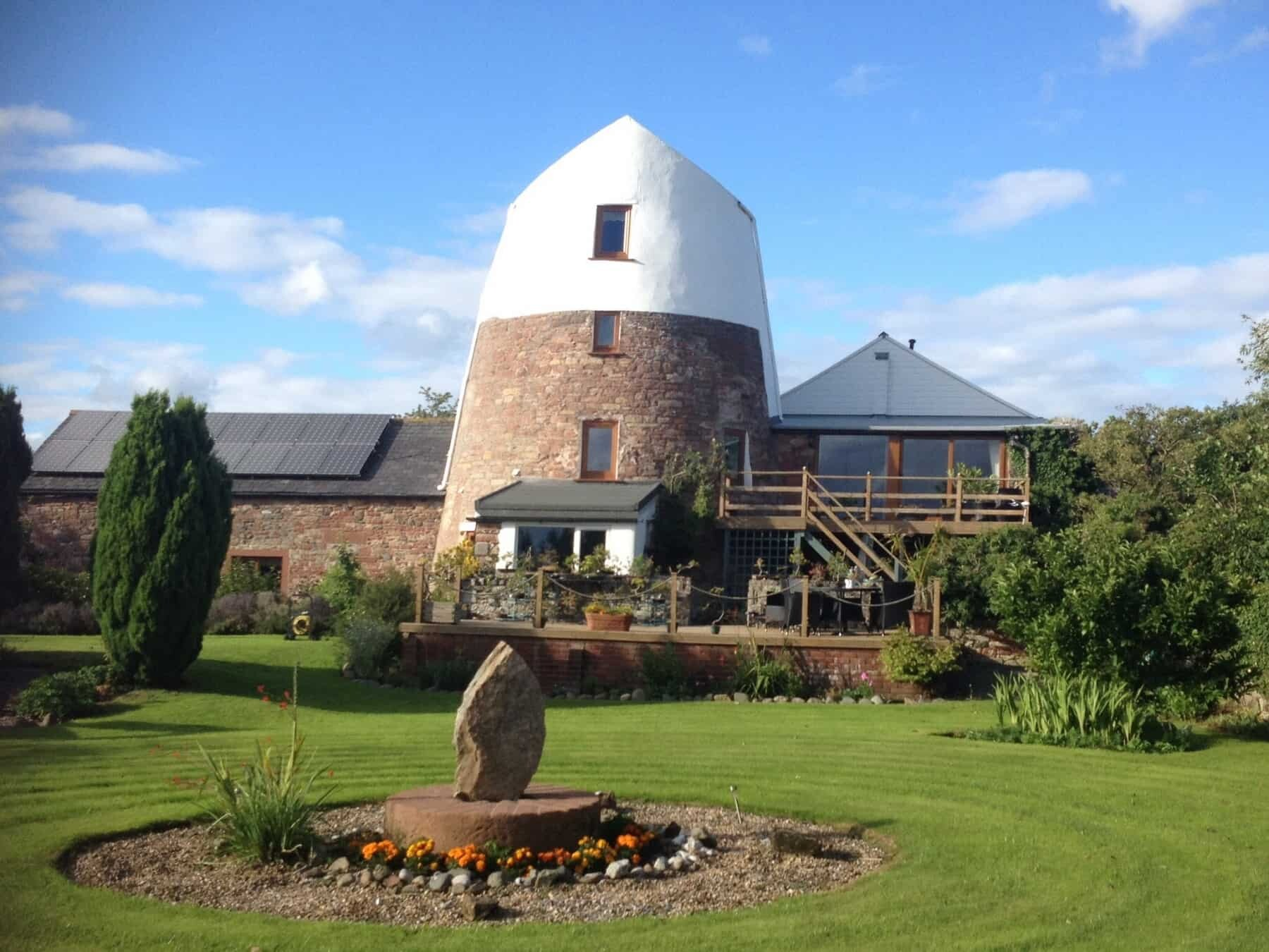 Front elevation of old windmill cumbria-min