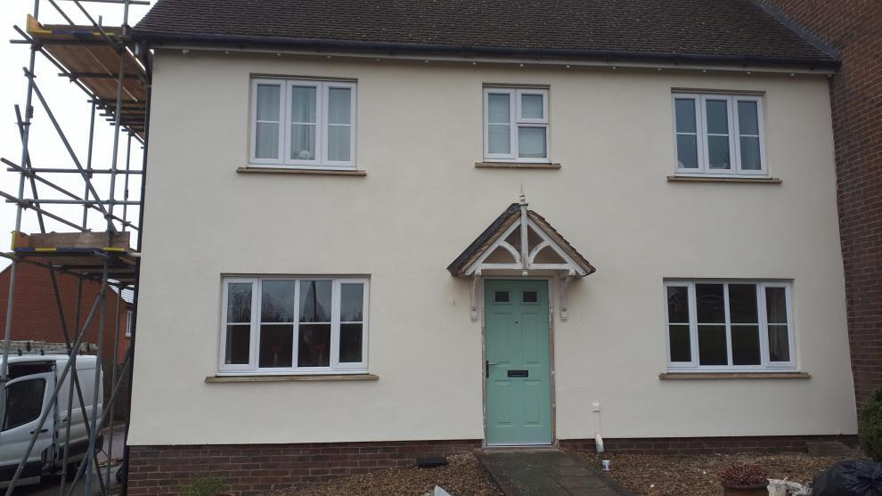 Front of basingstoke house after wall coatings