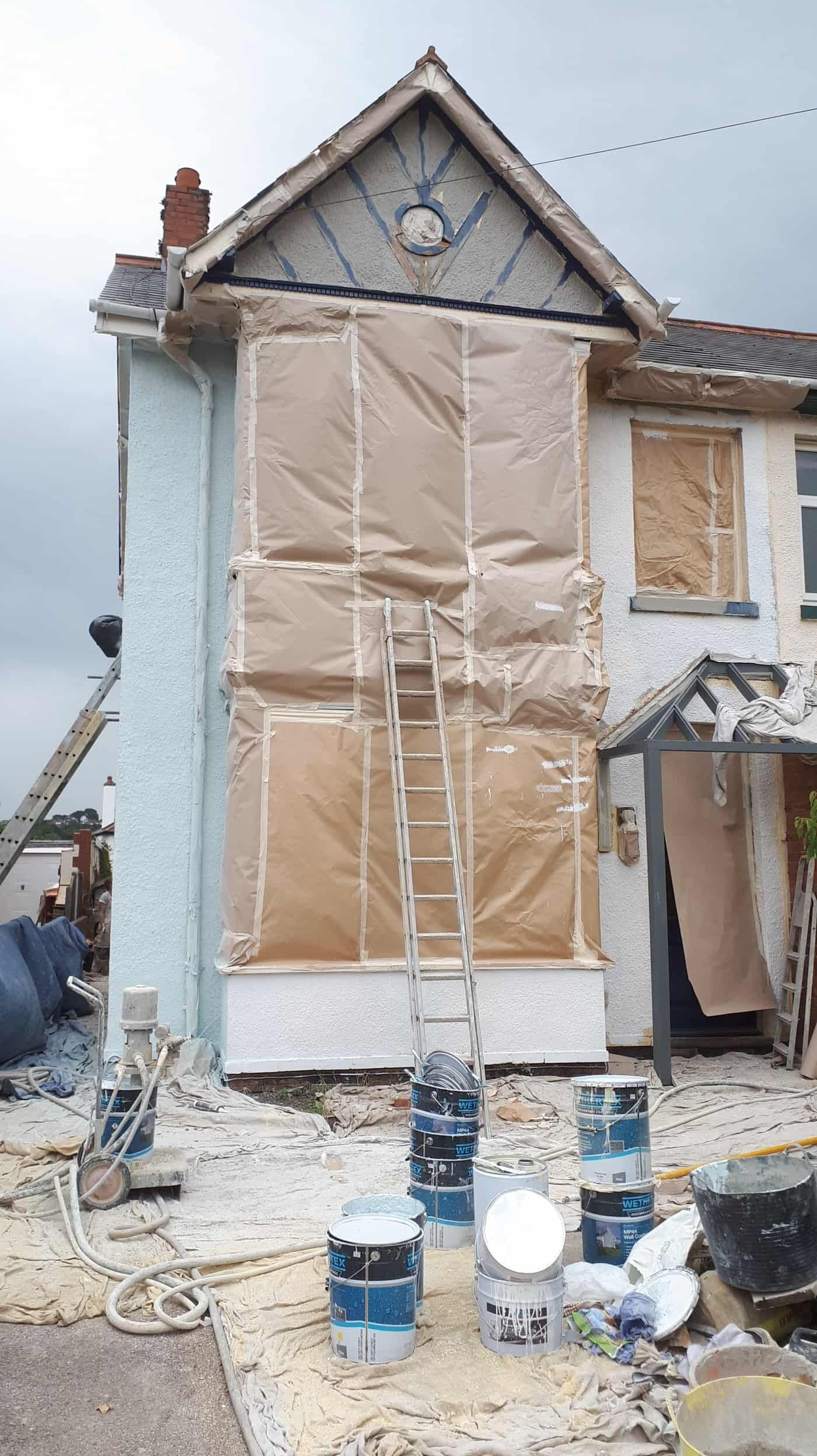 A major external refurb of an end terraced house in Exmouth, Devon