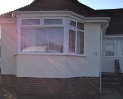 ront of gatwick bungalow after wall coating
