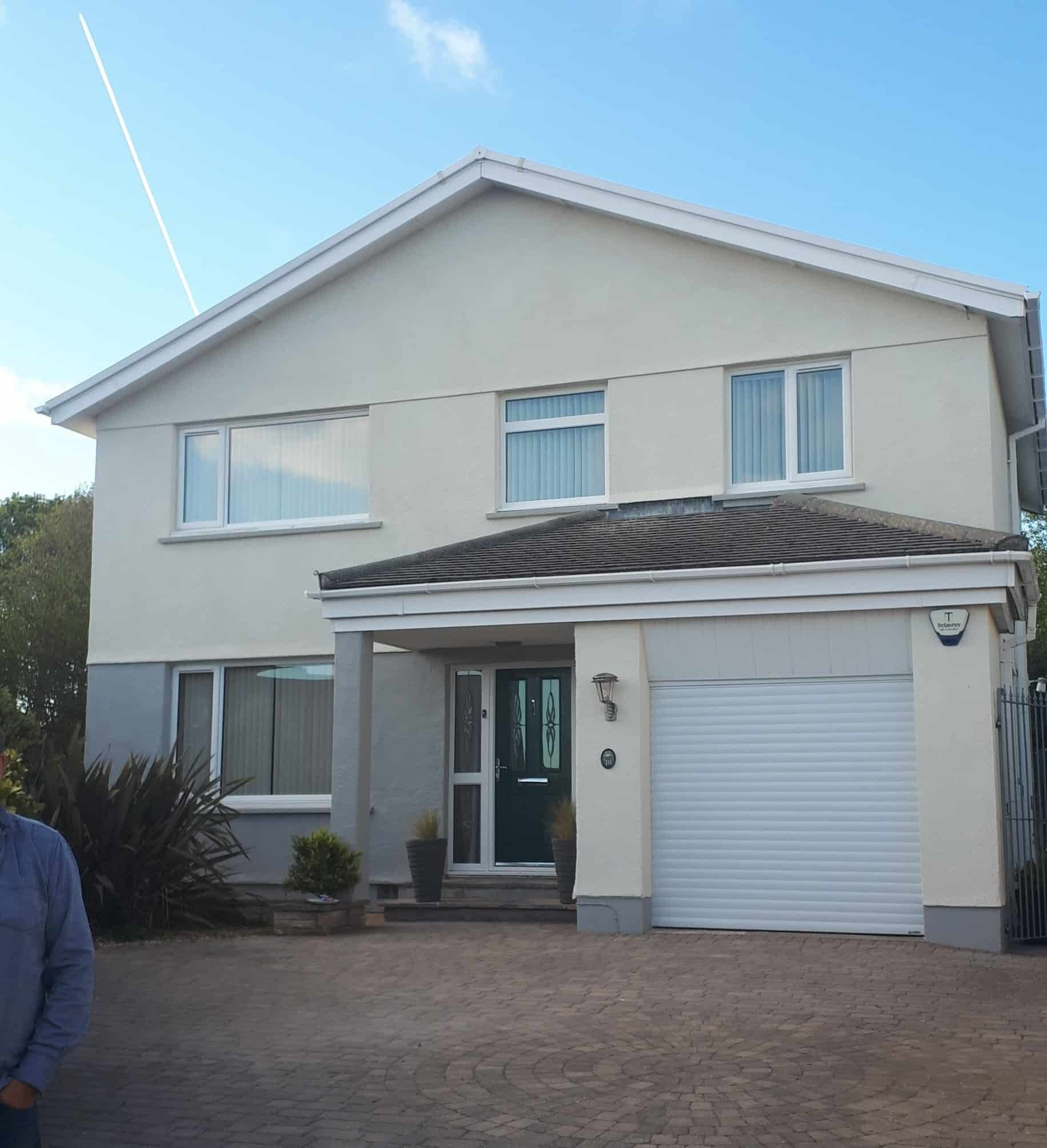 The front of the house in Cornwall with a wethertex exterior wall coating
