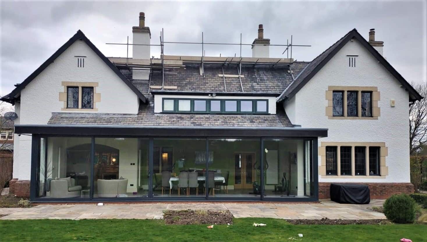 Front view of house in Cheshire with never paint again exterior wall coating