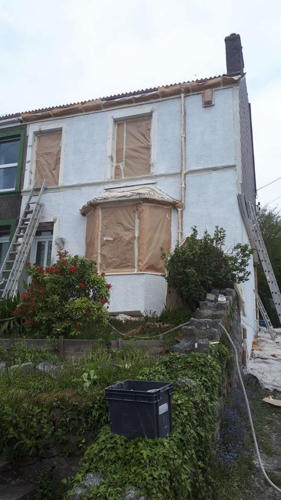 Liskeard house having work done