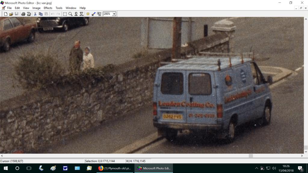 London coating company van Plymouth 1986