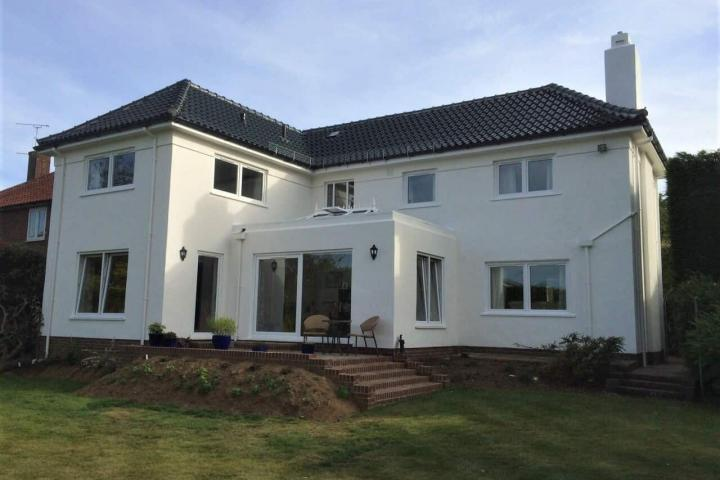 Never paint again UK paints this house with wall coatings in Ashford kent