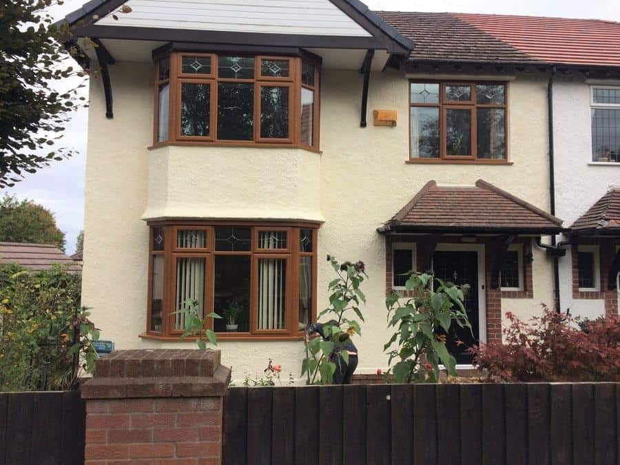 Never paint again wall coatings, the finished product, on a house on the wirral