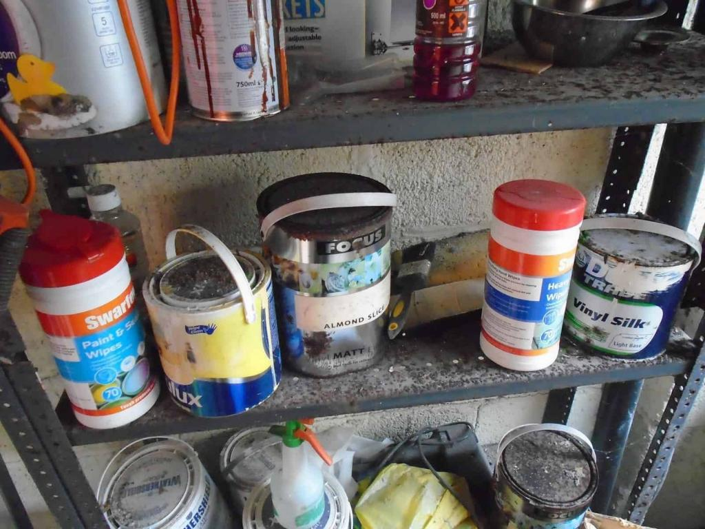 Old cans of paint