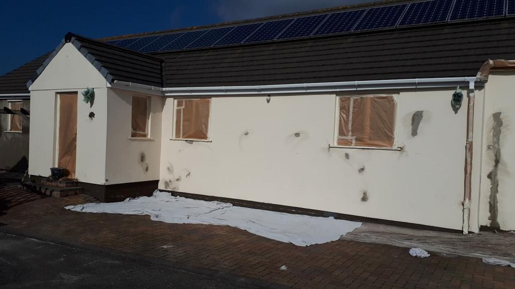 Repairs to a house in Redruth Cornwall-min