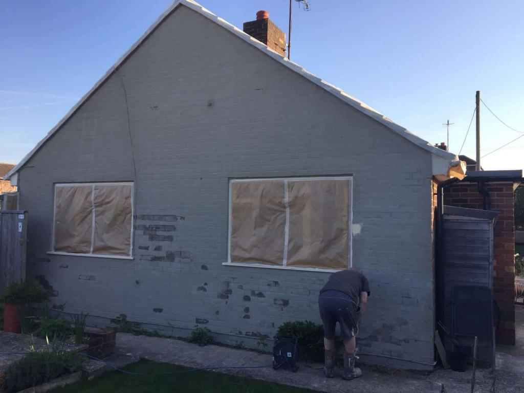 Salisbury gable end work in progress