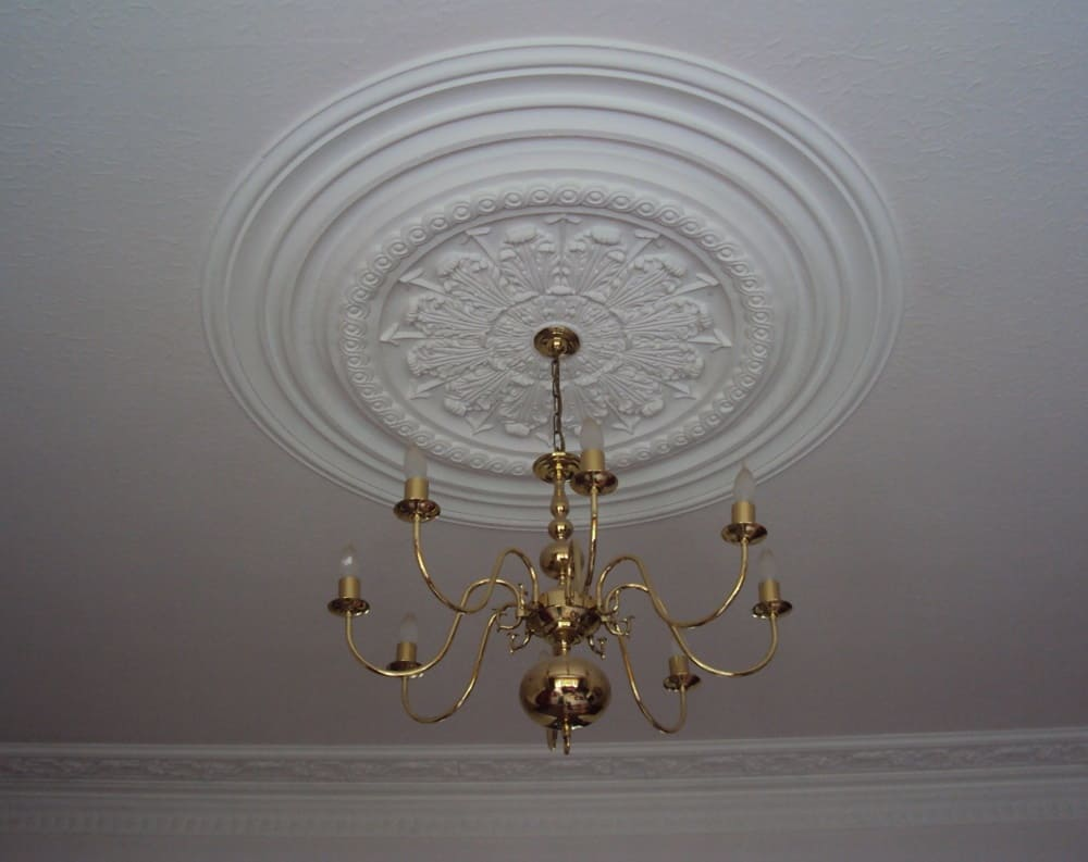 Victorian ceiling rose plasterwork