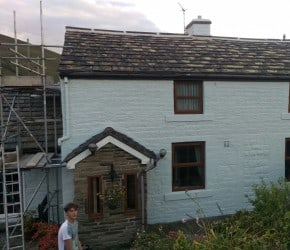 a newly painted house in Todmorden