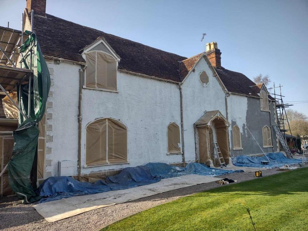another view of front during painting