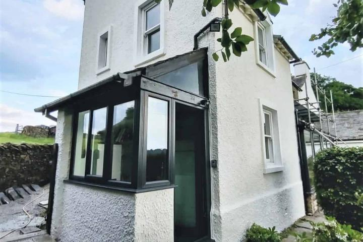 cottage in cumbria with new never paint again exterior wall coating