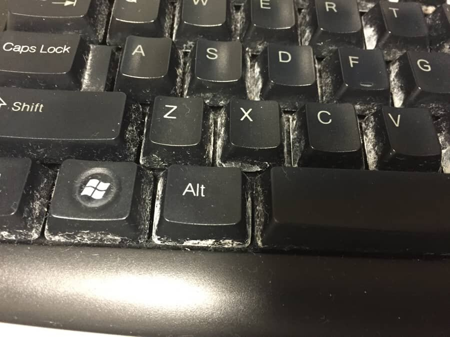 dirty pc keyboard