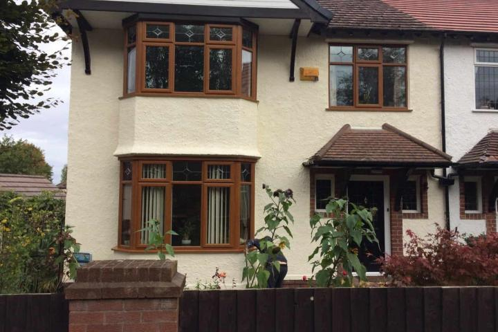 exterior protective wall coatings on a house in the wirral