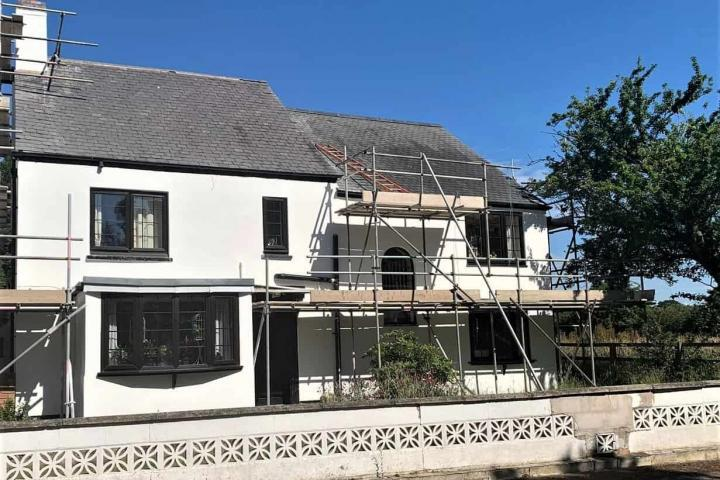 exterior wall coating and rendering for a house in Leicester (5)