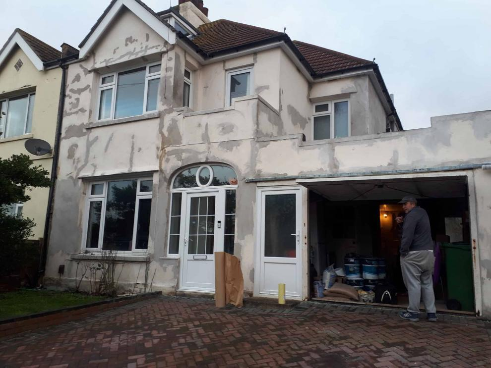folkestone kent job front of house during repairs