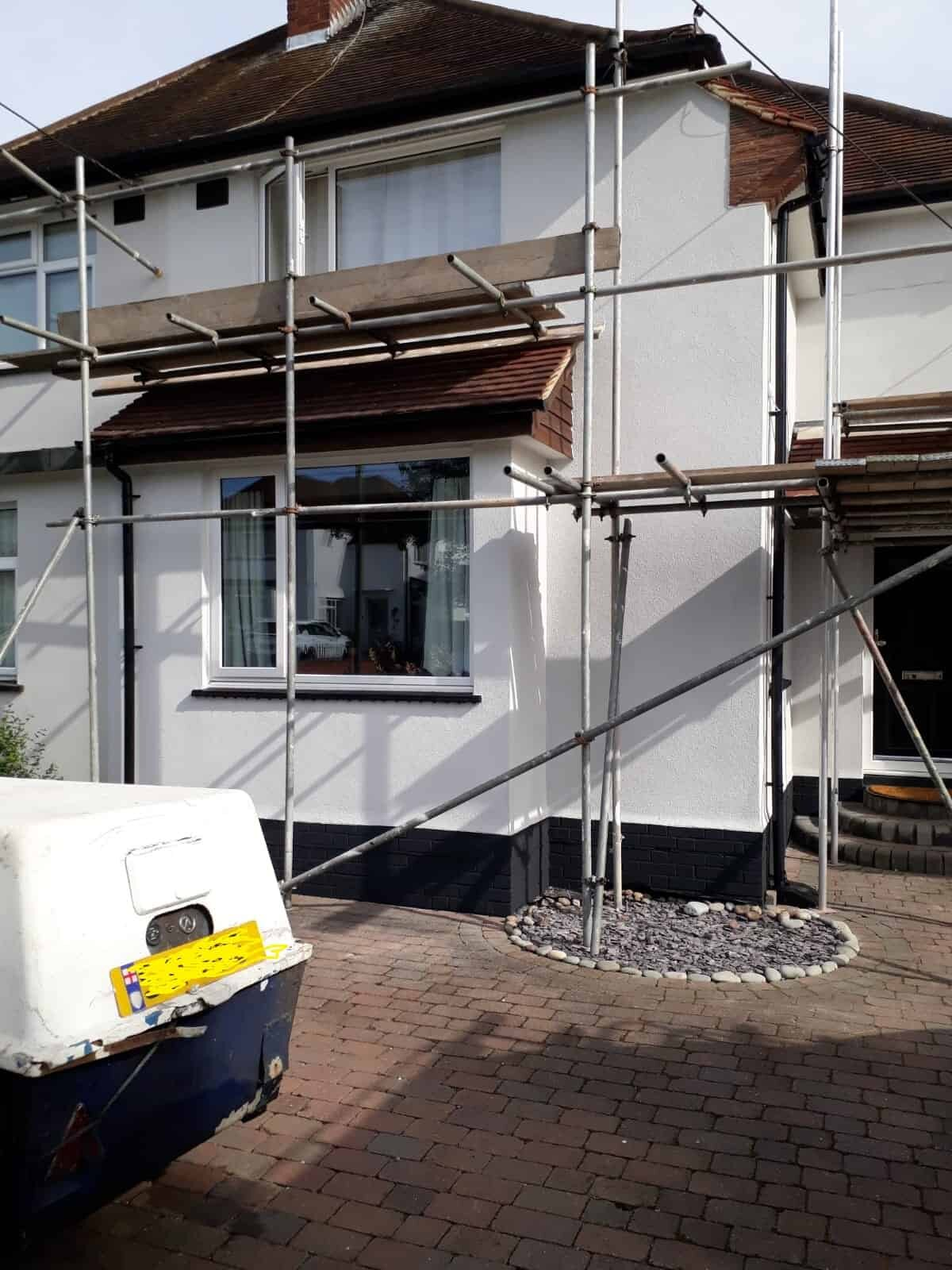 front of house in essex with a wethertex wall coating