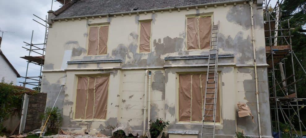 front of okehampton house showing bad render
