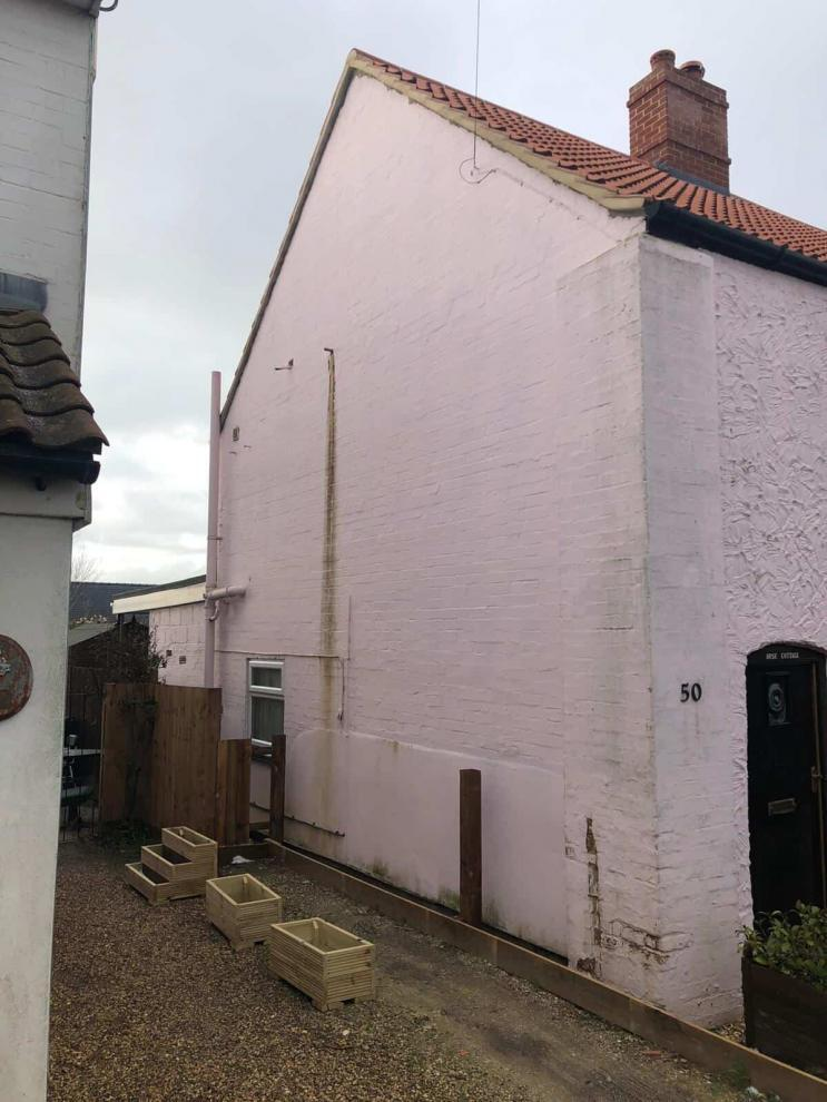gable end before painting