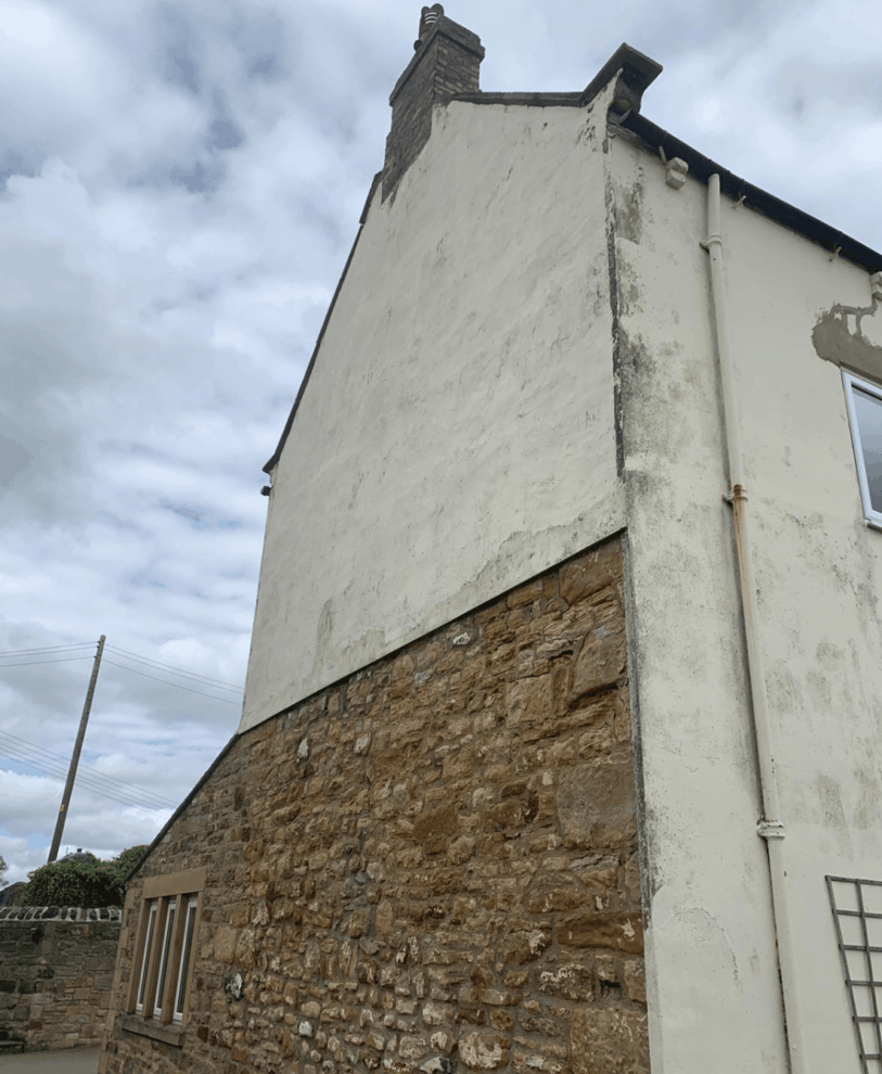 gable end with poor condition rendering