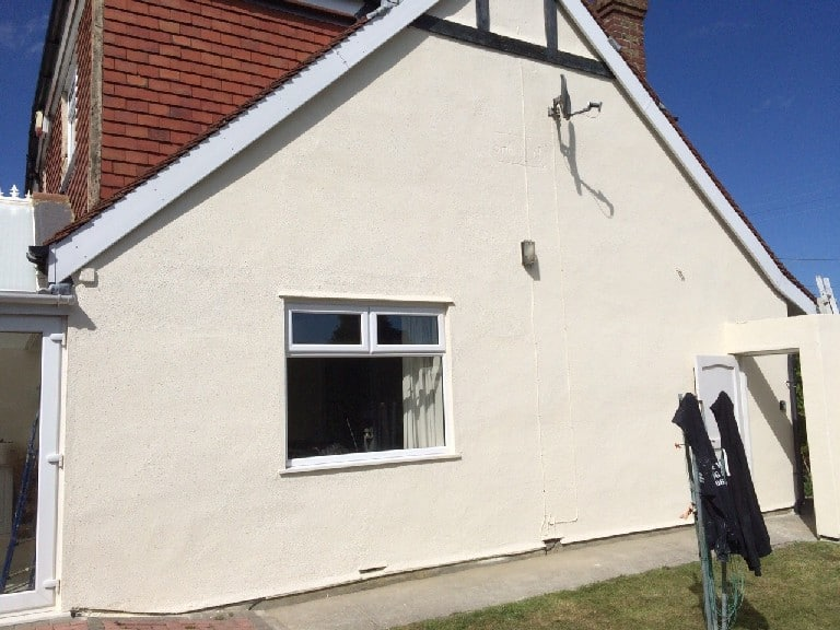 A house in east kent with a durable weatherproof wall coating