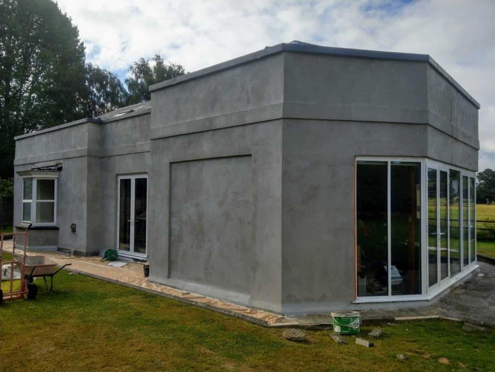ew rendering on house exterior