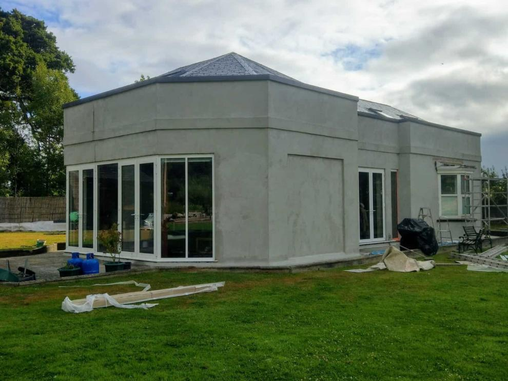 new rendering on house in exeter