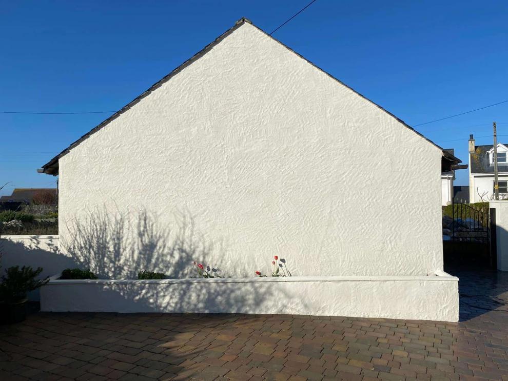 pine end protected by wethertex wall coatings