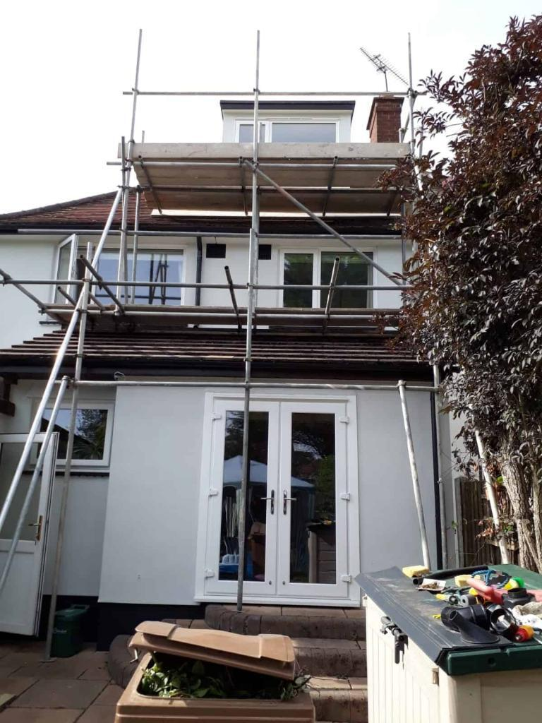 rear of house in essex with a wethertex wall coating by never paint again