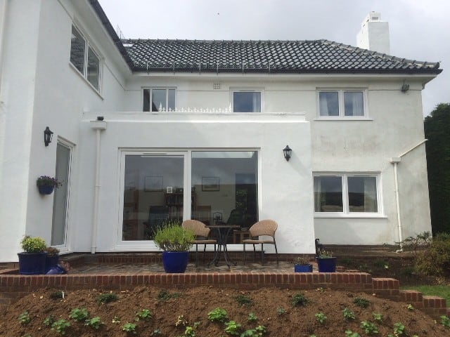 rear of tyrolean house in Ashford before work started