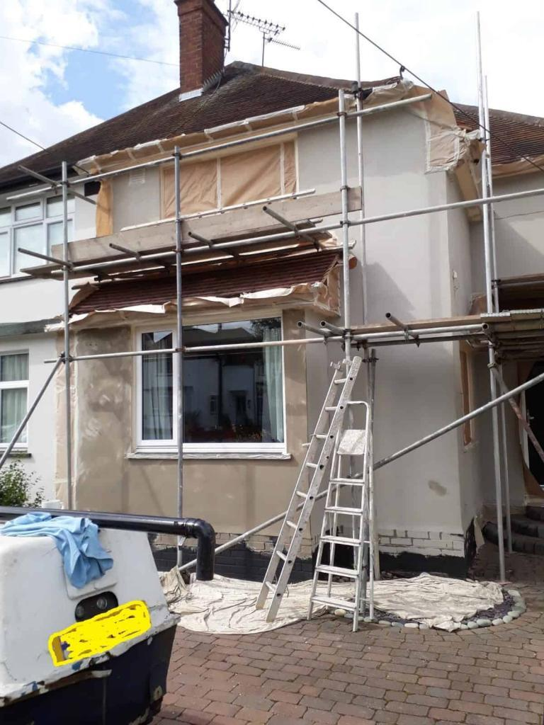 render repair to front of house in essex
