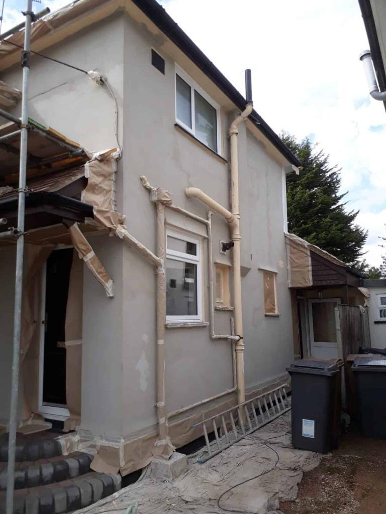 side of house after rendering