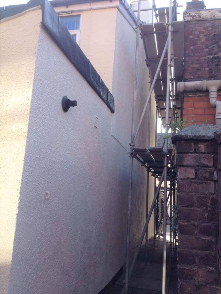 side wall of terraced home in liverpool