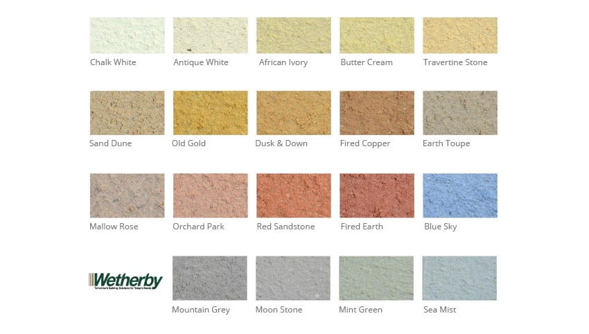 Textured wall coating colour charts never paint again uk - Exterior wood paint colours uk concept ...