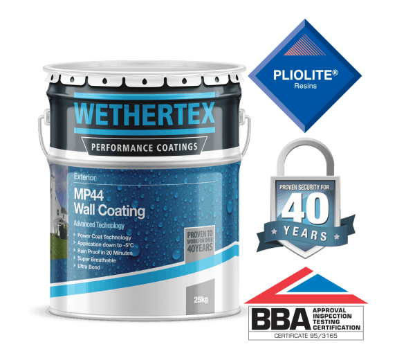wethertex mp44 textured exterior wall coating